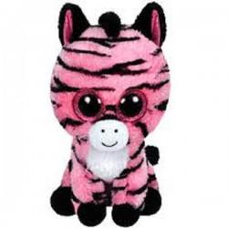 Peluche TY Beannie Boos 15 cm. Cebra rosa