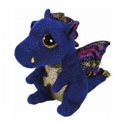 Peluche TY Beannie Boos 15 cm. Dinosaurio azul