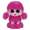 Peluche TY Beannie Boos 15 cm. Caniche rosa