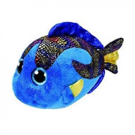 Peluche TY Beannie Boos 15 cm. Pez azul