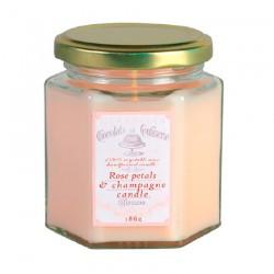 Vela Pétalos de rosa & champán 48 horas
