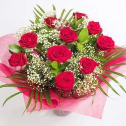 Ramo 10 rosas rojas